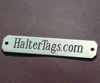 Longer Engraved Halter Nameplate Solid Brass