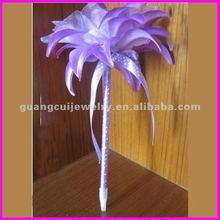 fashion newest cartoon purple rose flower pen for women