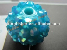 Active Stock!! 14MM Blue colors Rhinestone resin beads!! Loose crystal balls rhinestone resin pave balls!! Factory Sales!! !!
