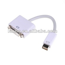 White Mini DVI Male to DVI 24+1 Female Converter Adapter Cable