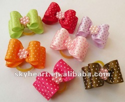 wholesale small order pet hair bow , dog clips and accessories ornament
