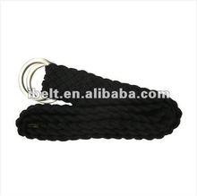 Ring Woven Belt Black -COOL TRUE FREE RETRO