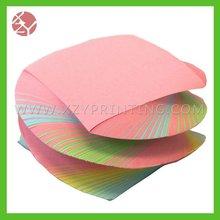 3 x 3-Inch unique design swirl note pad