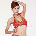Asequible de nuevo y caliente venta de ropa de baile del vientre, sexy de lentejuelas borlas de cuentas rojas danza del vientre tops ( sz007 )