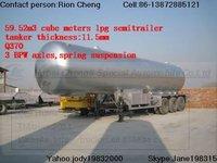 with pump&flow meter 25T lpg tansport trailer
