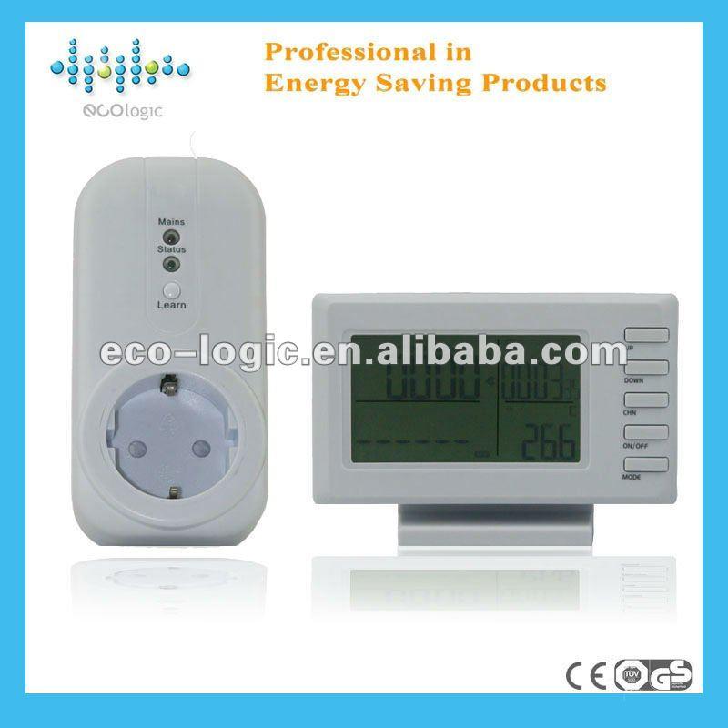 2012 inalámbrico digital energía medidor de consumo para uso doméstico electrodomésticos