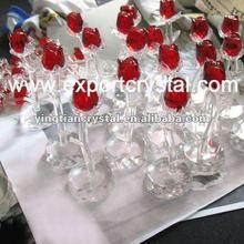 Crystal glass rose