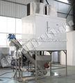 Máquina de gelo industrial grande quadrada com sistema de embalagem de gelo