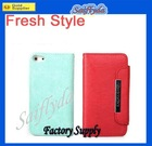 Luxury leather Cover Case for iPhone 5 5G