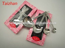 Stainless steel heart shaped measuring spoons