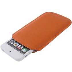 Leather Case Pocket Pouch Sleeve Bag for iPhone 5 / iPhone 4 & 4S (Orange)