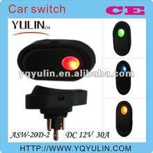 100pcs/lot china porn 12mm DC 12V red lamp automatic car dc switch