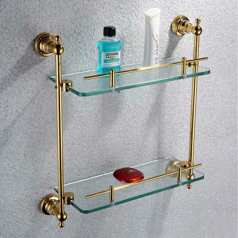 Estantes De Pared Para Baño:de montaje en pared de baño estante de vidrio-Estanterías de Baño