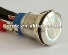 QN19-B2 (19mm)ring illuminated metal push button switch stainless steel