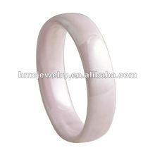 2012 Fashion Jewelry Ceramic Wedding Band Pink Ceramic Ring