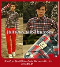 2012 latest OEM mens fashion cotton long sleeve shirt