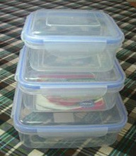 3 pieces in 1 set square preservation transparent lunch box
