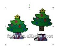 lowest price for bulk sale Christmas items tree shape usb flash drive light up