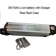 rear rack carrier 36V10AH lithium Iron Battery for electric bike kit