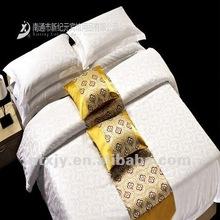 100% cotton White Plain hotel bedding