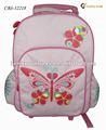 2015 mariposa de color rosa de la escuela las niñas bolso de la carretilla