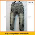 vendez en gros, les jeans élastiques de taille d'enfants, mode, conception douce et dernière