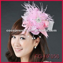 2012 stunning luxury beautiful top sell fancy flower bridal hari barrettes wedding headpieces