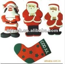 2012 most popular PVC cartoon usb flash drive for Christmas gift