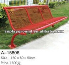 2012 new model red metal bench ,professional manufacturer export outdoor bench (A-15806)