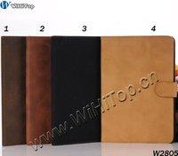 Retro Rubberized Matte Flip Leather Case for iPad Mini 7.9'' Stand Leather Case for iPad Mini 7.9'' 20PCS/LOT