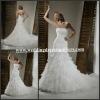 MG099 Designer Sleeveless Popular Bandage Corset Ruffles Strapless Mermaid Trumpet Wedding Dress