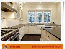 Absolute black granite countertop design