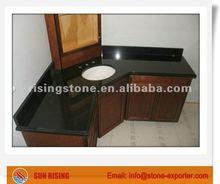 ABsolute black vanity top with ogee edge