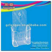 leaflet wall mounted acrylic display case
