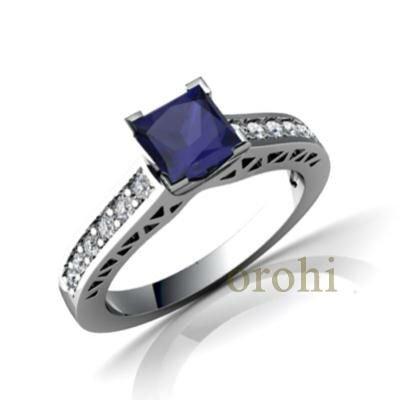 Zafiro anillo de