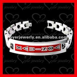 titanium magnetic bracelet with enamel