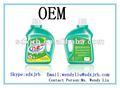 líquido detergente de lavandería para la mano y la máquina de lavado