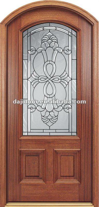 Arco superior de am rica del dise o de puertas de vidrio for Arcos de madera para puertas