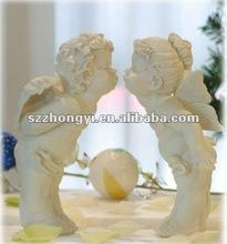 resin kiss angels/angel figurines wedding gifts/angel wings decoration