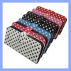 Polka Dots Leather Wallet Case for iPhone 5 5G With Credit Card Slots