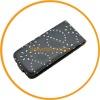 Black Diamond Bling flip leather case cover for iPhone 5 5G