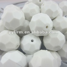White Color Newest Acrylic 16MM Chunky Beads for Chunky Necklace Jewelry Making!