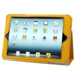Grid Texture Leather Case with Holder for iPad Mini