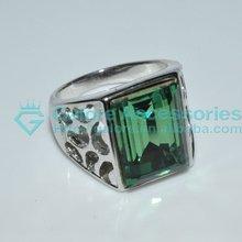 ricco di moda 10 carati di diamanti anelli di fidanzamento