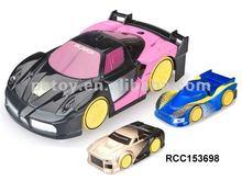 Radio control toy car runs on walls