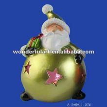led lighted santa shaped christmas ball ornament
