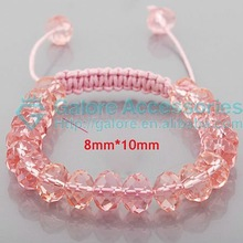 lucky glass rose color most popular shamballa bracelet