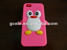 2012 Cute animal shape silicone case for iphone 5