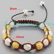 custom fashion disco ball shamballa bead bracelets
