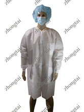 pollute/pollution resistant OEM branded disposable nonwoven women's lab coat for surgical and medical use comfortable to wear
